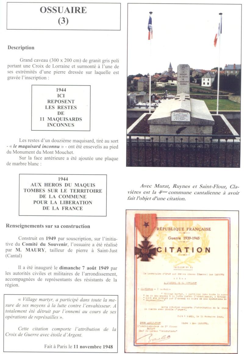 Le MONT-MOUCHET, haut lieu de la Résistance - Page 2 Clavie17
