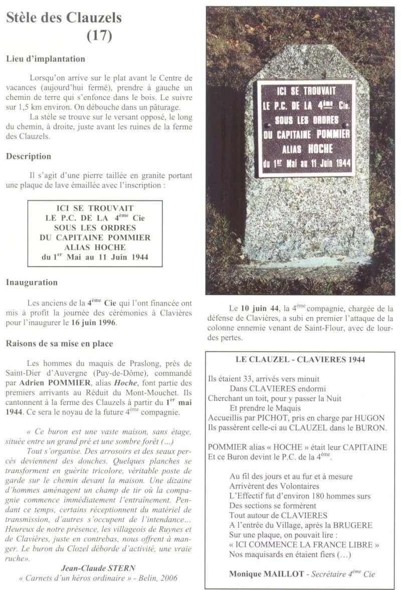 Le MONT-MOUCHET, haut lieu de la Résistance - Page 2 Clavie24