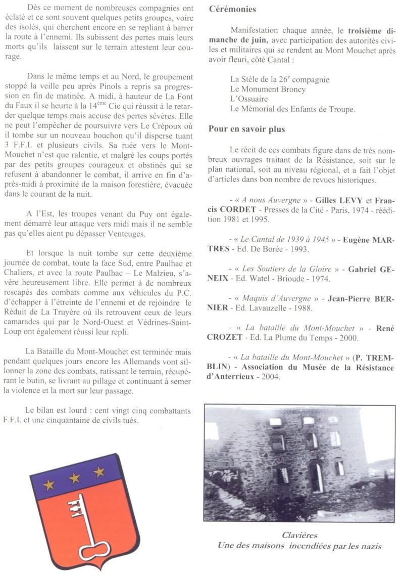 Le MONT-MOUCHET, haut lieu de la Résistance - Page 2 Clavie27