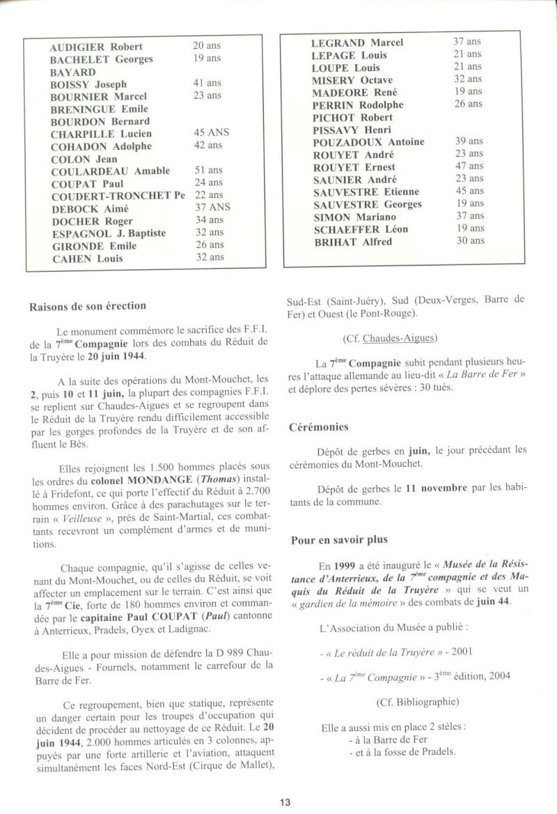 Le MONT-MOUCHET, haut lieu de la Résistance - Page 2 Reduit18