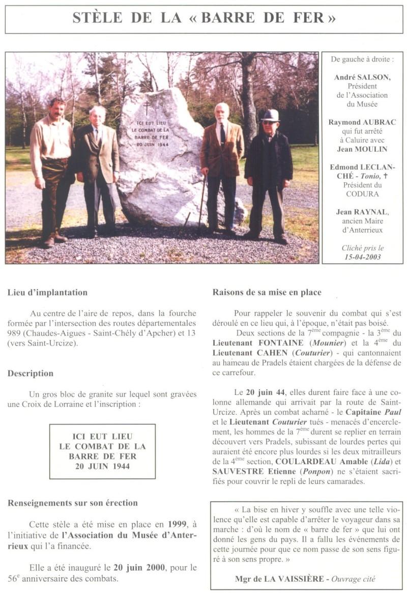 Le MONT-MOUCHET, haut lieu de la Résistance - Page 2 Reduit20