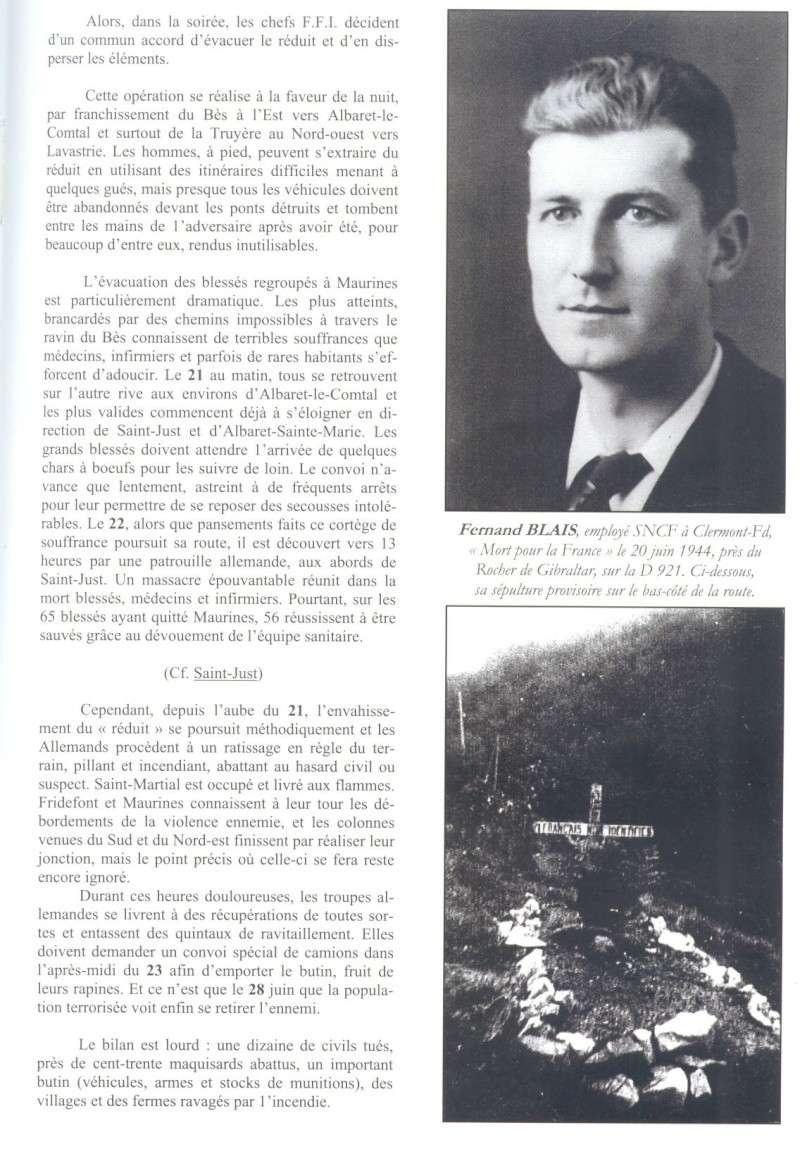 Le MONT-MOUCHET, haut lieu de la Résistance - Page 2 Reduit36