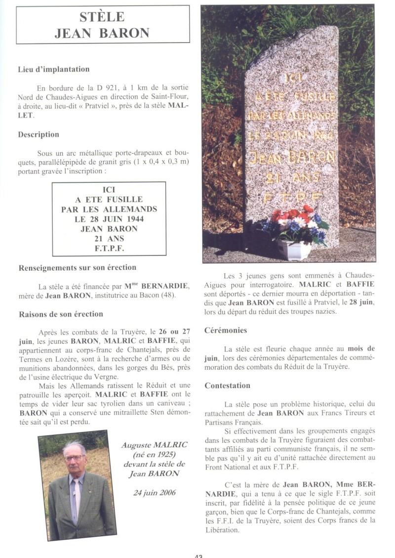 Le MONT-MOUCHET, haut lieu de la Résistance - Page 2 Reduit38