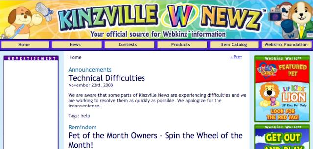 New Kinzville News! Kinzvi11