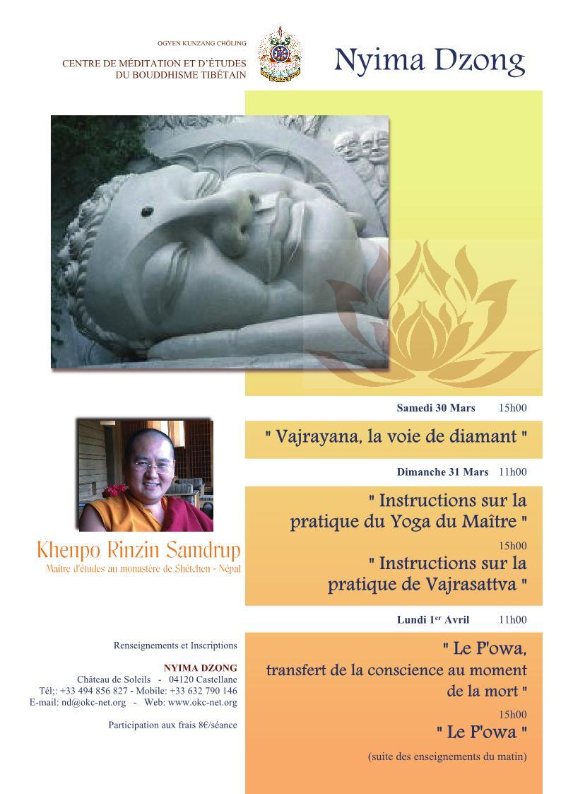 Enseignement de Khenpo Rinzin Samdrup Krs20110