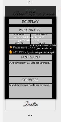 Profil interactif modulable par l'administration ou les joueurs Avahov11