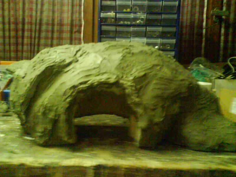 grotte en polystyrene - Construction d'une grotte. Dsc00112