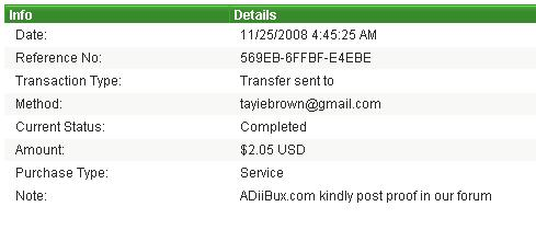 payment proofs i made to members Proof510