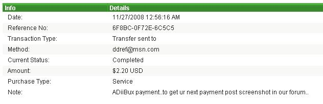 payment proofs i made to members Proof_12