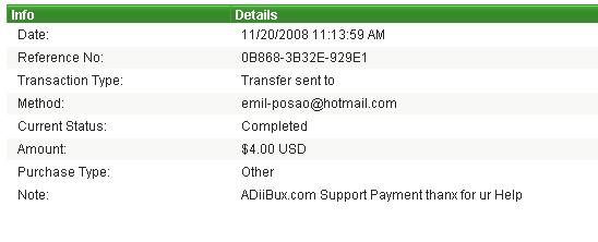payment proofs i made to members Supprt10