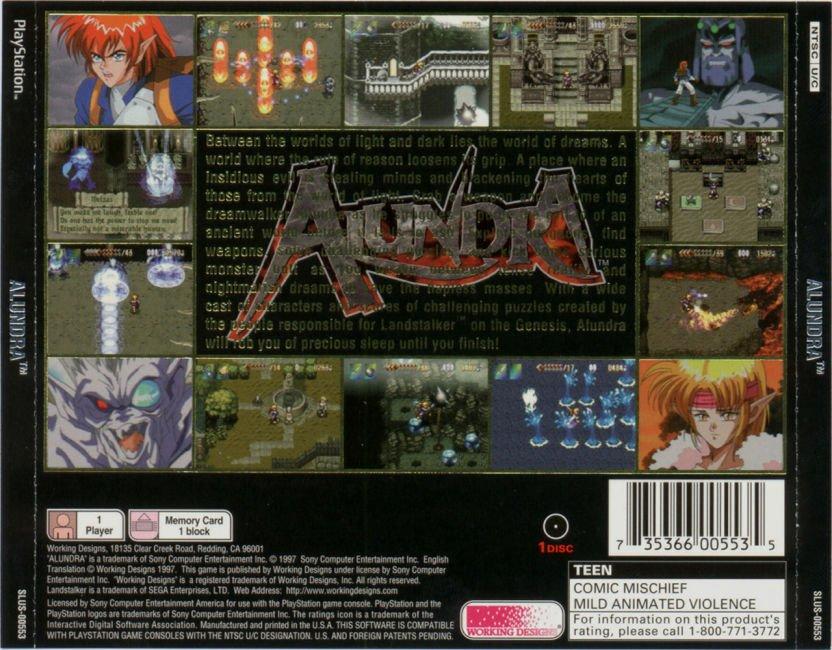 Alundra (NTSC-U) - PSone (Playstation) - RPG - 572 MB (uncompressed)/260 MB (compressed) Alundr11
