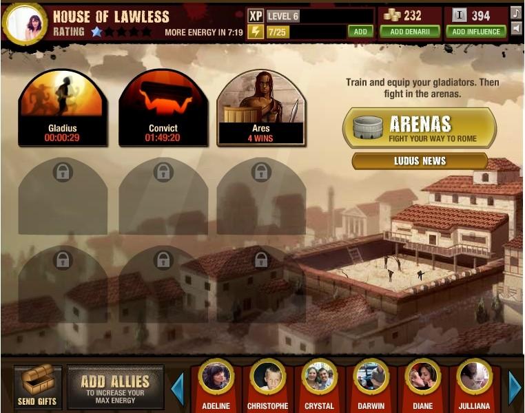 Spartacus Gods of Arena le jeu sur FB Gofaje10