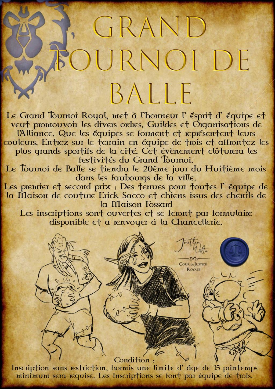 Avis à la Population : Grand Tournoi Royal Affich18