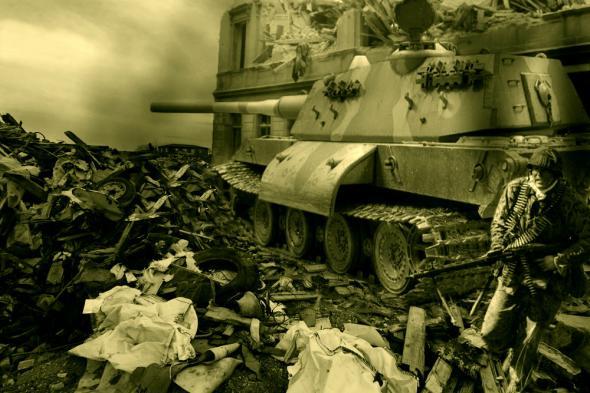 Les chars allemands monstrueux, une intox apparue dès 1943. Fd528110