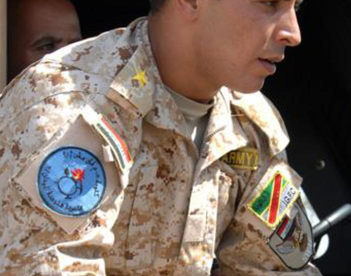 Patches worn by New Iraq Army. P4413810