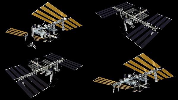 """""""Photo de famille"""" Photo d'ISS avec une navette arrimée. - Page 2 Sans_t95"""