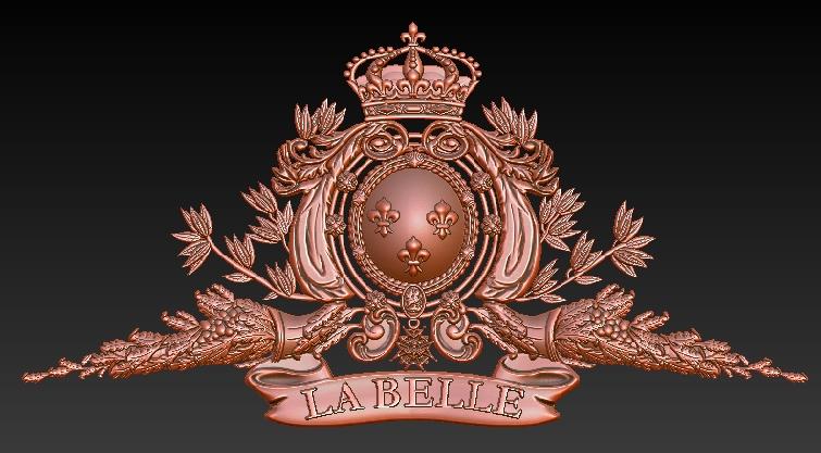 LA BELLE 1684 scala 1:12 - Pagina 10 Fregio10