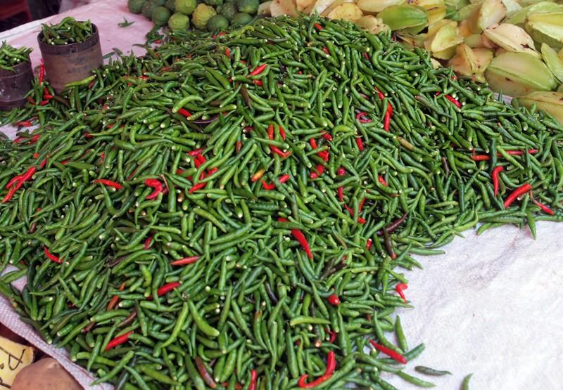 Fruits et Légumes sur les marchés de l'ile de la Reunion Piment12