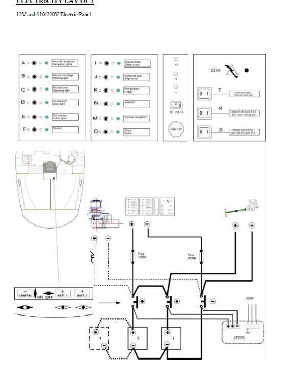 batteries - Oceanis 361 / Circuit Batteries Oceani11