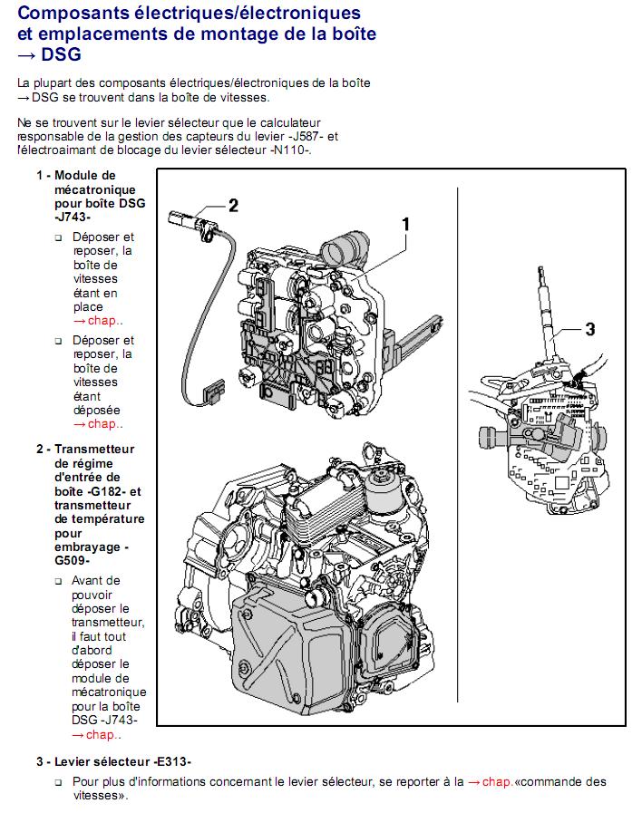 Description et Réparation - Boite DSG 02E  Dsg1510