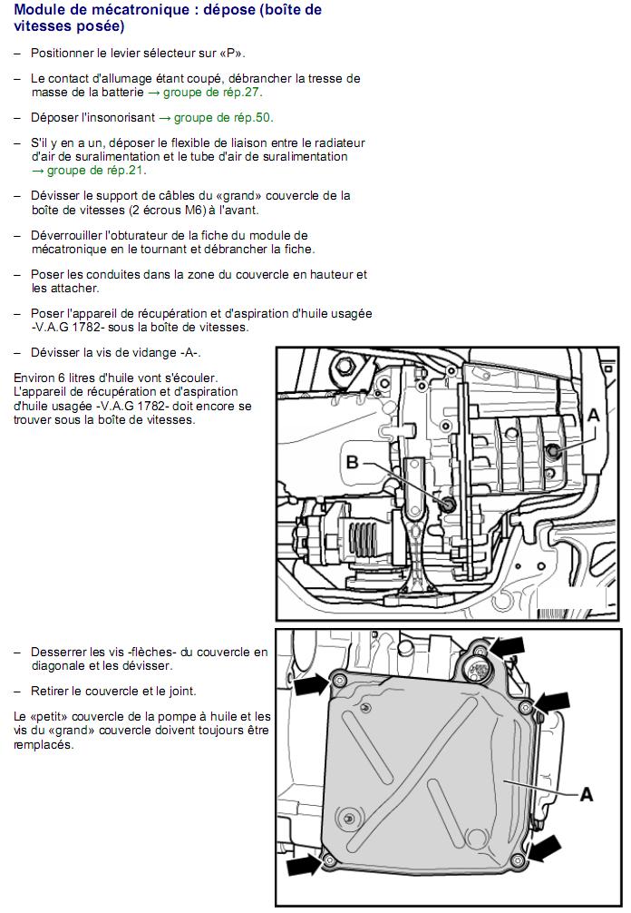Description et Réparation - Boite DSG 02E  Dsg1610