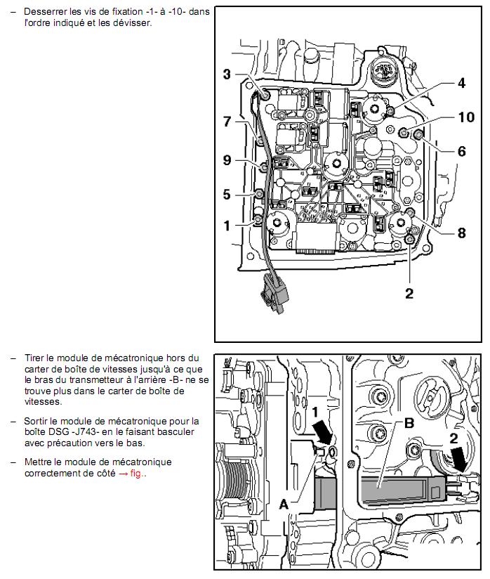 Description et Réparation - Boite DSG 02E  Dsg1810