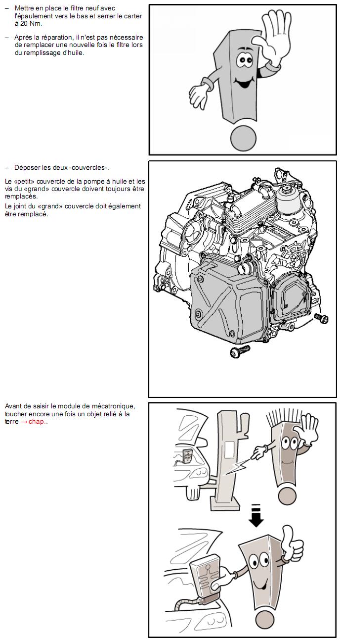 Description et Réparation - Boite DSG 02E  Dsg2210