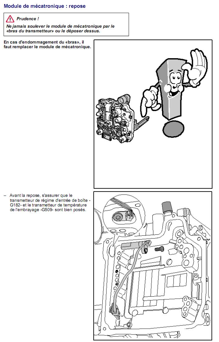 Description et Réparation - Boite DSG 02E  Dsg2510