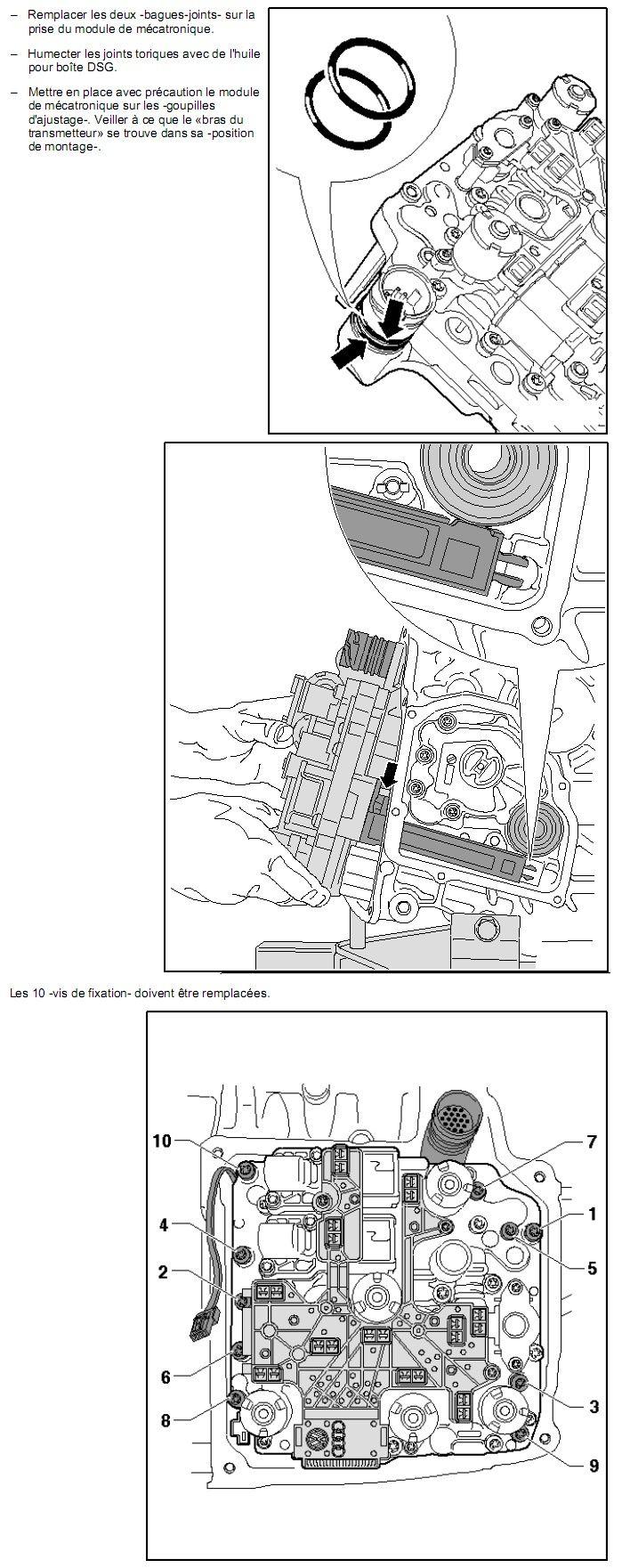 Description et Réparation - Boite DSG 02E  Dsg2610