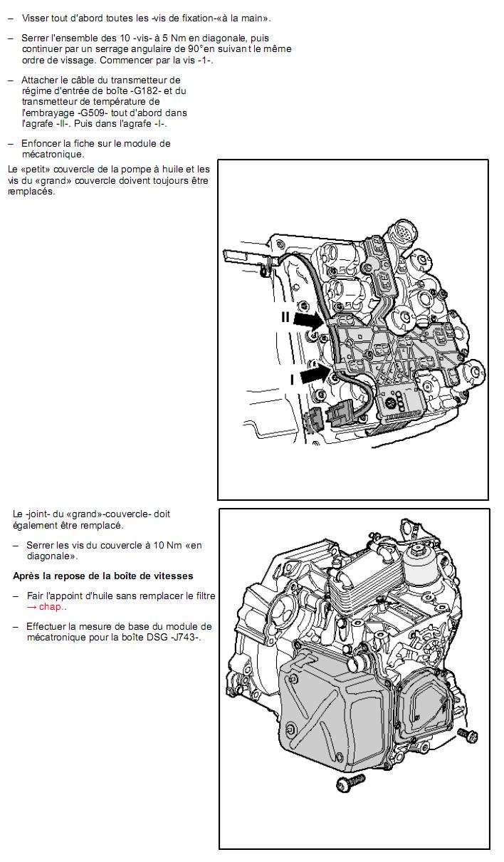 Description et Réparation - Boite DSG 02E  Dsg2710