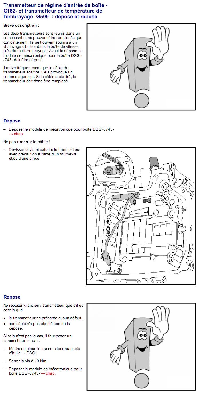 Description et Réparation - Boite DSG 02E  Dsg2810