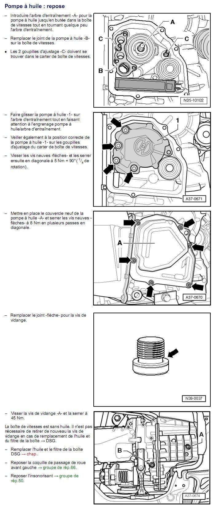 Description et Réparation - Boite DSG 02E  Dsg3310