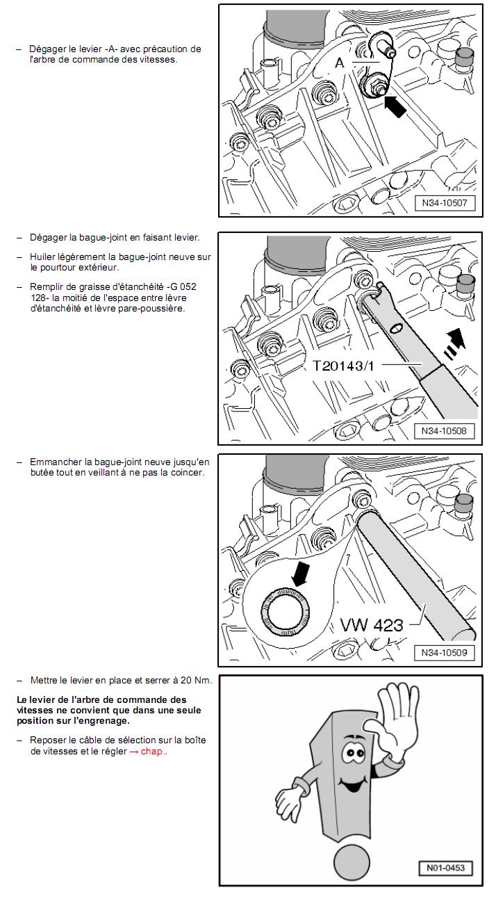 Description et Réparation - Boite DSG 02E  Dsg3510