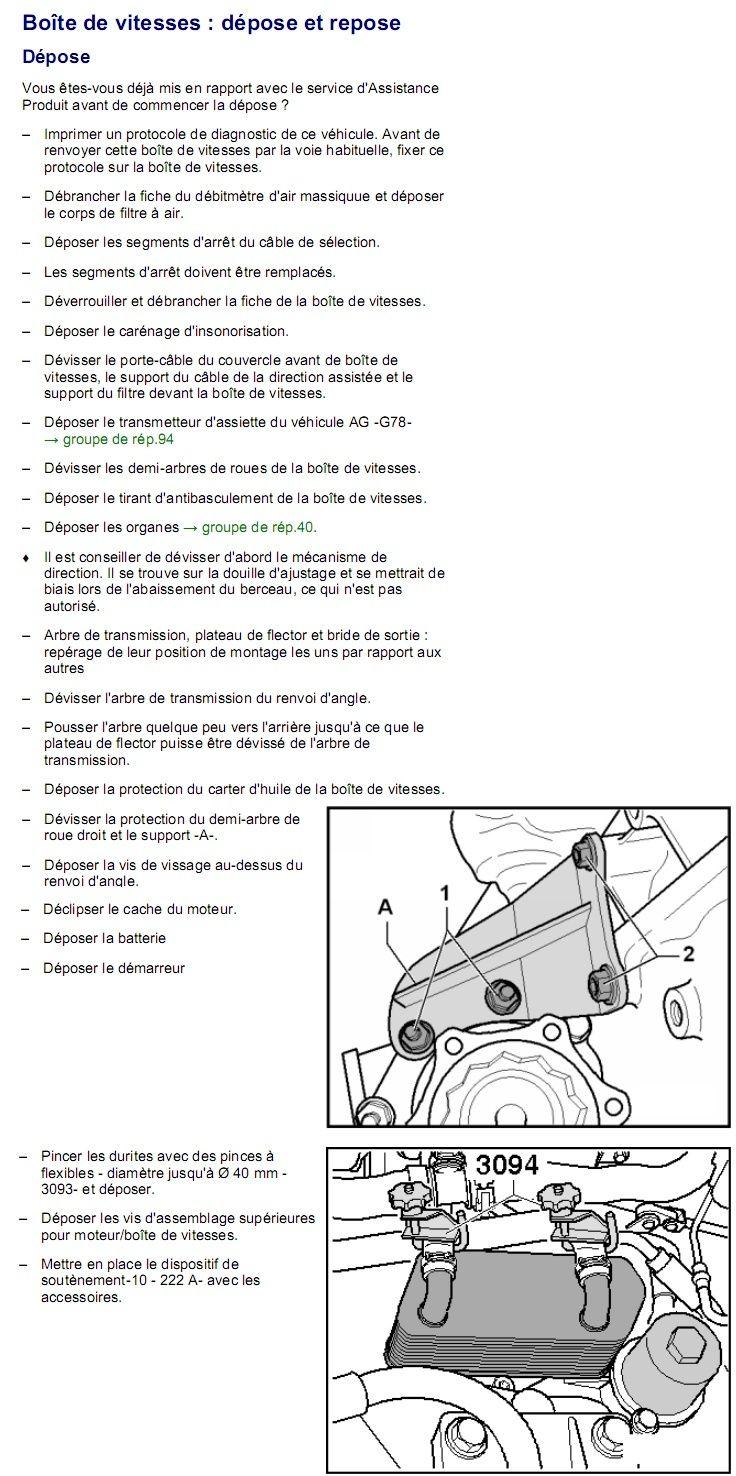 Description et Réparation - Boite DSG 02E  Dsg3810