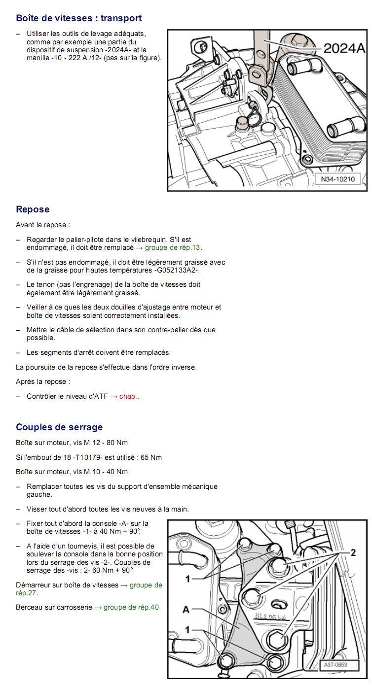 Description et Réparation - Boite DSG 02E  Dsg4010
