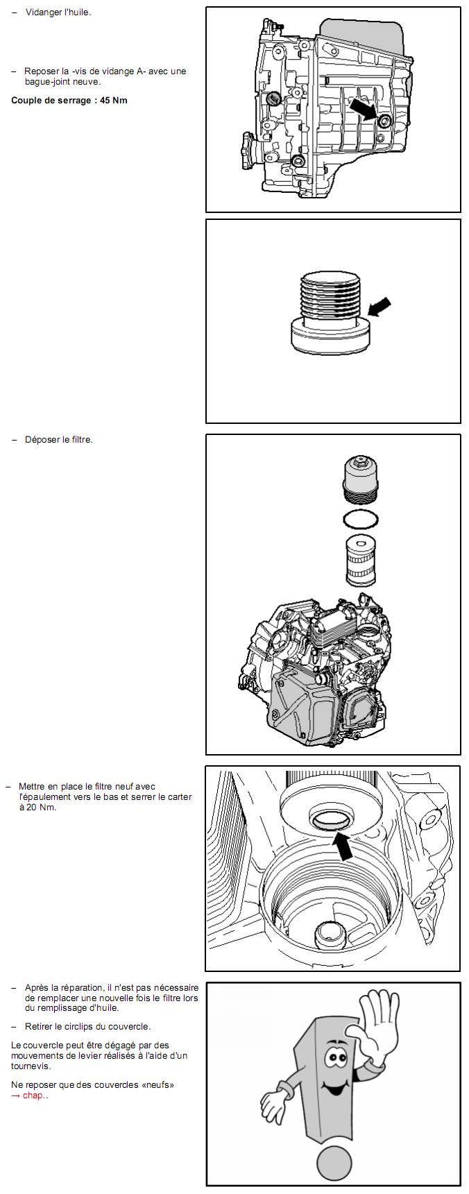 Description et Réparation - Boite DSG 02E  Dsg410