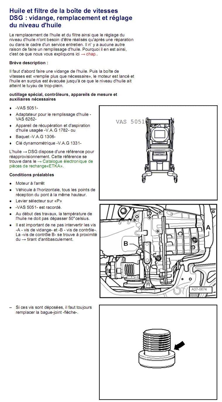 Description et Réparation - Boite DSG 02E  Dsg4110
