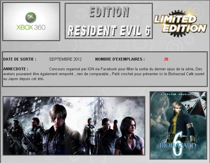 XBOX 360 : Edition RESIDENT EVIL 6 Biohaz10