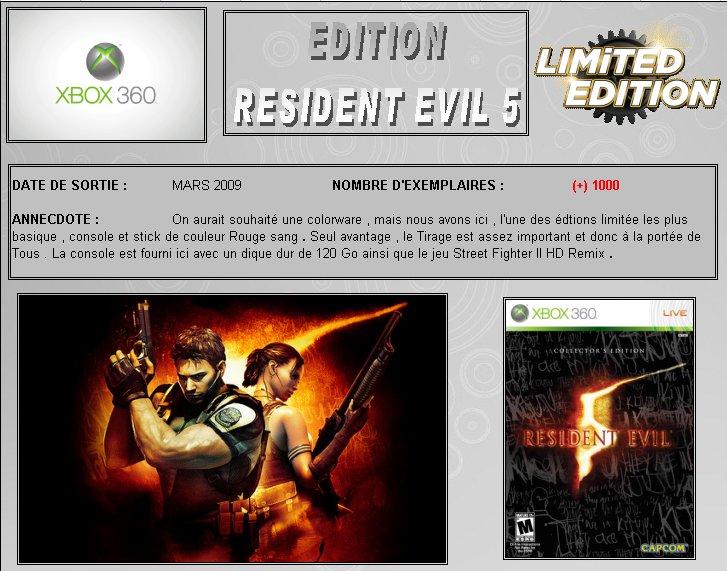 XBOX 360 : Edition RESIDENT EVIL 5 Biohaz11