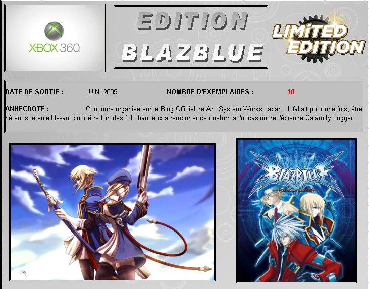 XBOX 360 : Edition BLAZBLUE Blazbl10