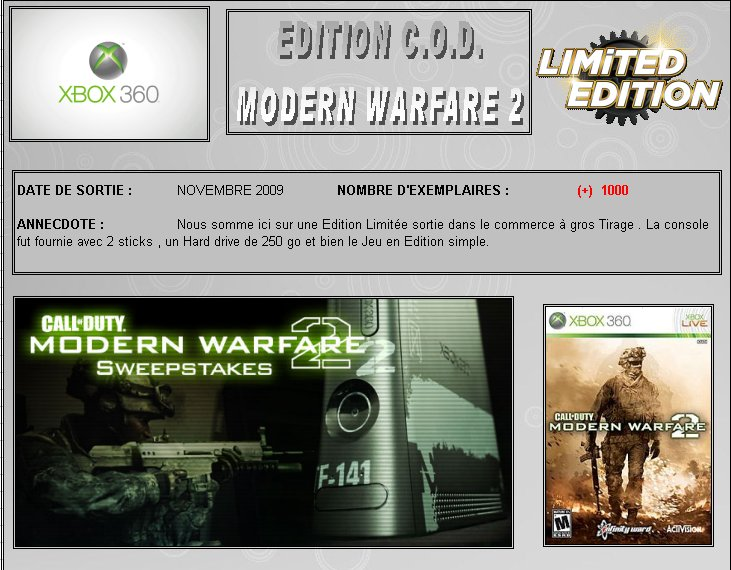 XBOX 360 : Edition CALL OF DUTY Modern Warfare 2 Cod_wa11
