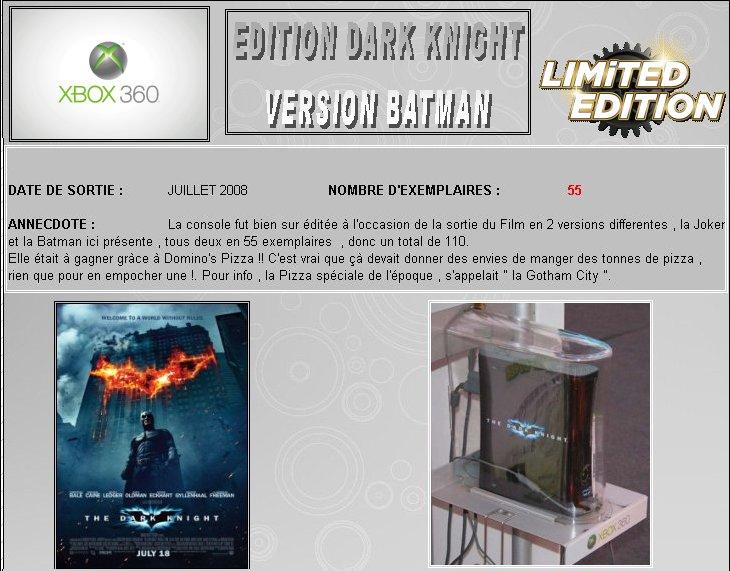 XBOX 360 : Edition BATMAN Dark Knight Dark0111
