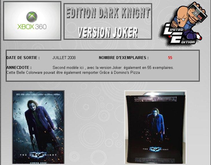 XBOX 360 : Edition BATMAN Dark Knight Dark0310