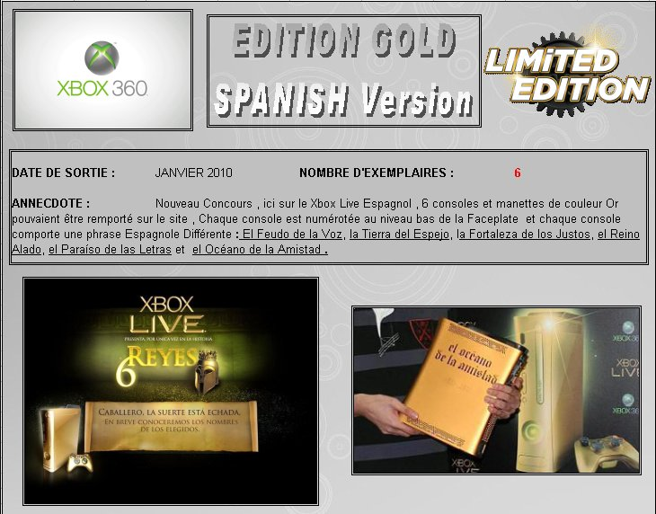 XBOX 360 : Edition GOLD SPAIN Version   Gold_s11