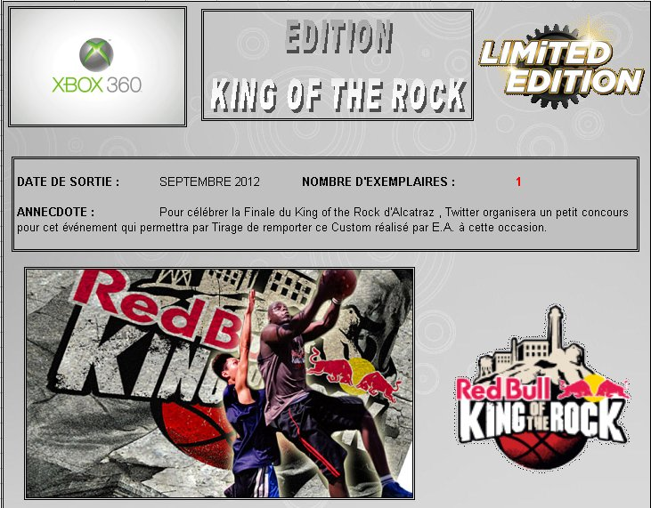 XBOX 360 : Edition KING OF THE ROCK - RED BULL King_o11