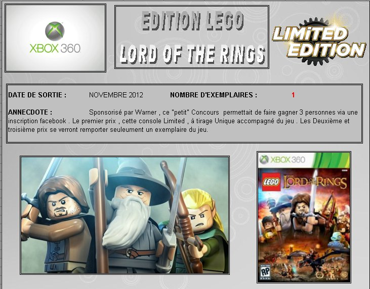 XBOX 360 : Edition LEGO Lord of the Rings Lego_l10