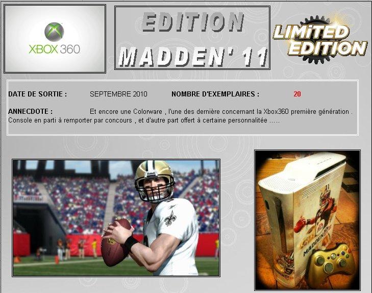 XBOX 360 : Edition MADDEN 11 Madden10