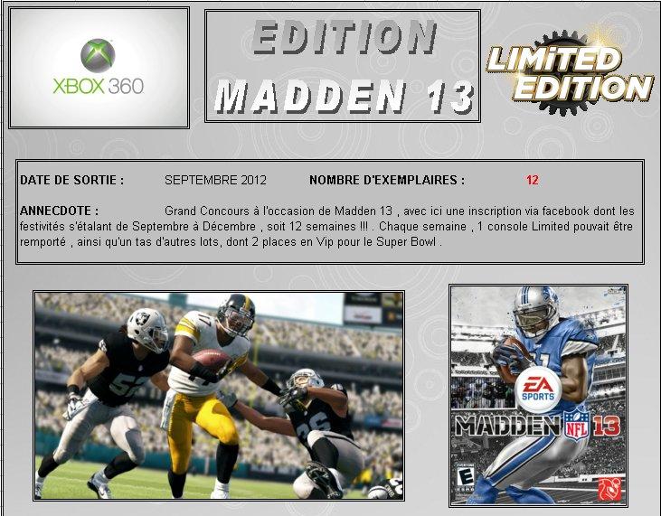 XBOX 360 : Edition MADDEN 13   Madden13