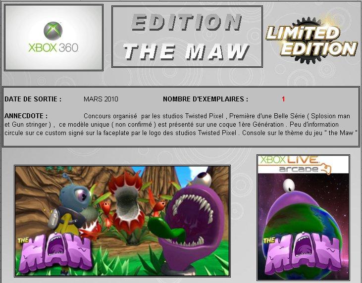 XBOX 360 : Edition THE MAW Maw0110