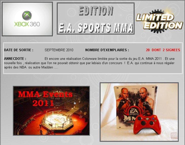 XBOX 360 : Edition MMA 11' Mma0110